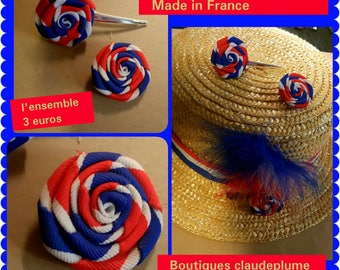 Clip hair pin flowers Made in France