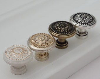 Silver Cabinet Knobs Etsy