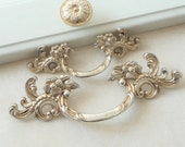 1.75 39 39 2.5 quot Antique Silver Dresser Knobs Pulls Shabby Chic Drawer Pull Handles Knob Kitchen Cabinet Handles Pull Knob Furniture Pulls 44 64mm