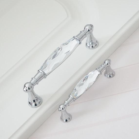 3 755 Luxury Crystal Handles Drawer, Luxury Kitchen Cabinet Knobs