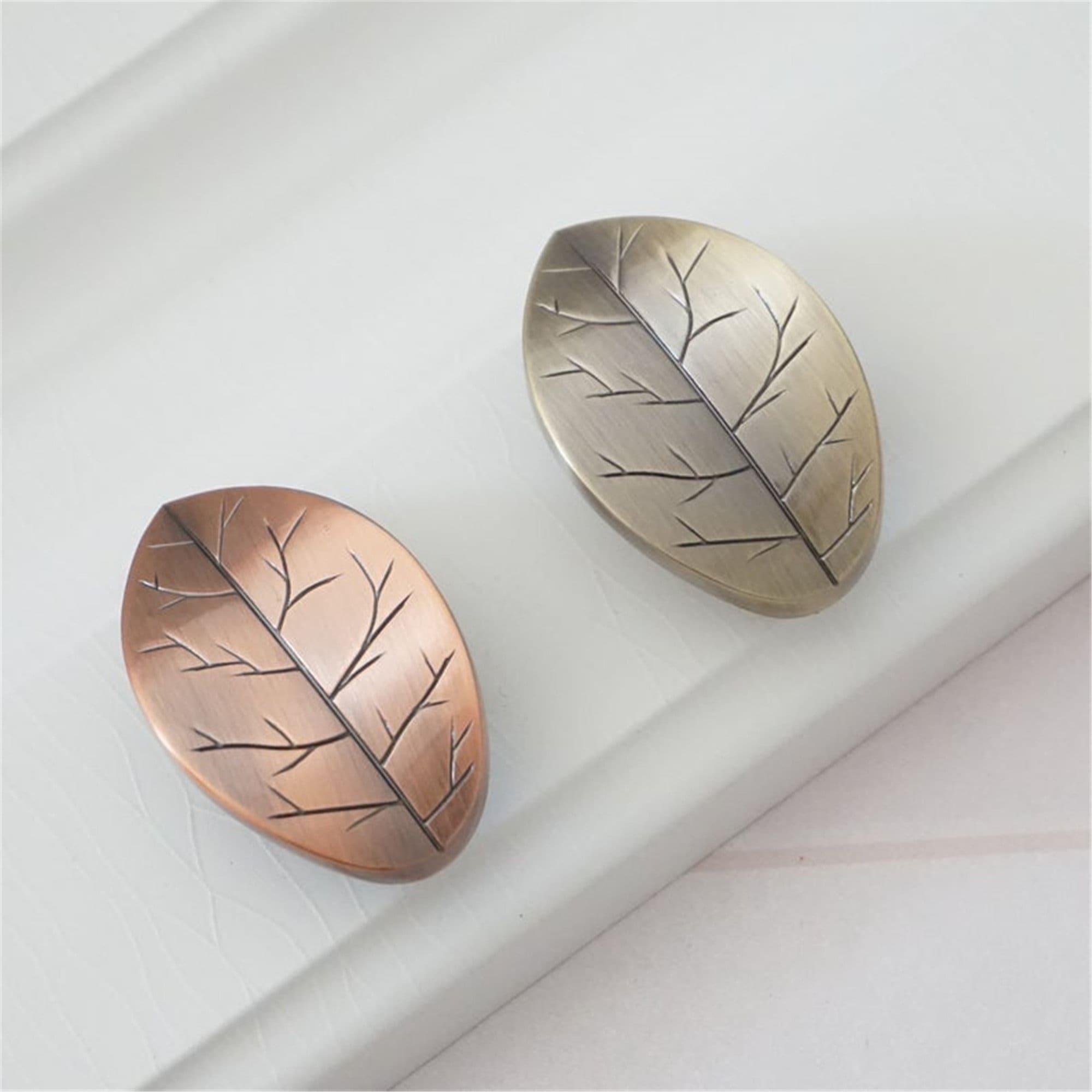 Leaf Design Dresser Knobs Drawer Pull Handles Knobs Bronze   Etsy