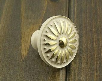 Knobs / Cabinet Knobs / Dresser Knobs / Drawer Knobs Pulls Handles White Gold Antique Brass Furniture Knob Pull Handle Hardware