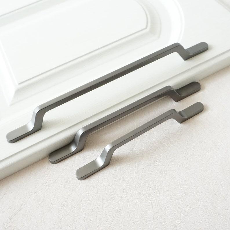 3.78 5 7.55 Bar Dresser Pull Drawer Pulls Knobs Kitchen Cabinet Handle Gun Door Handles Hardware 96 128 192mm