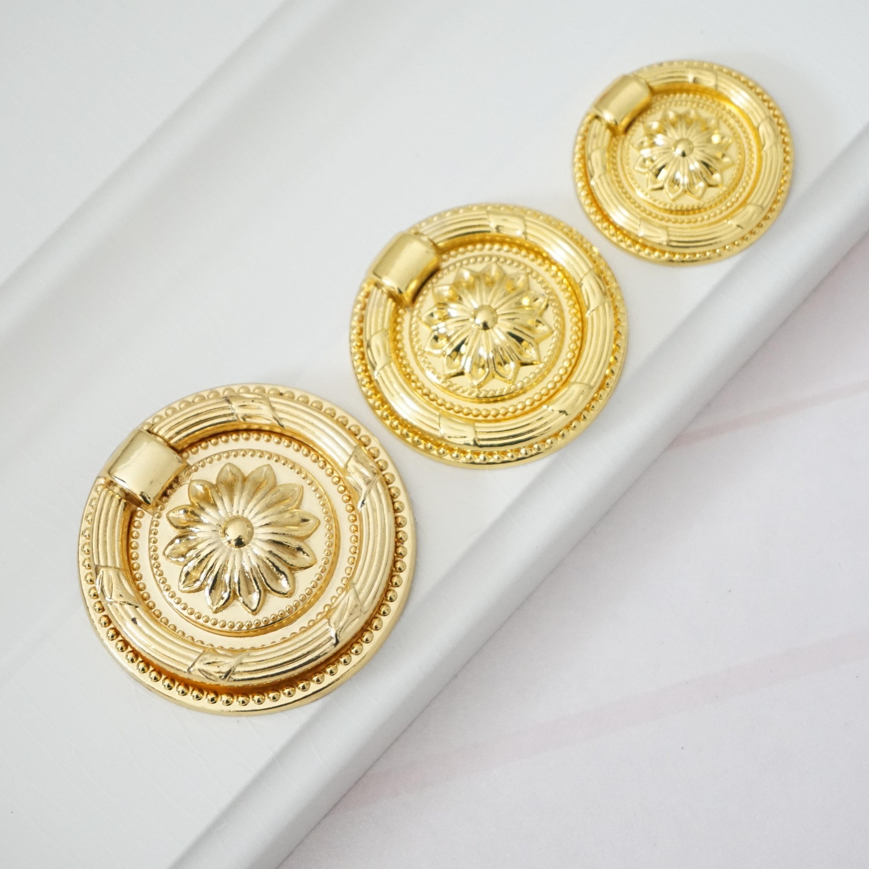 Kommode ziehen Ring Knöpfe Gold Schublade Knöpfe Griffe Griff