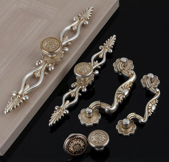 Kommode Knöpfe zieht Schublade Knopf Pull Handles Antik Silber | Etsy