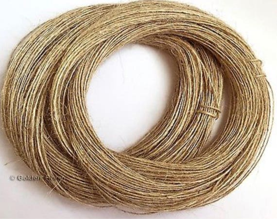 3 PLY TIDY PURE JUTE TWINE STRING CRAFTS SHABBY CHIC NEW 100M 50M X 2 BUNCH