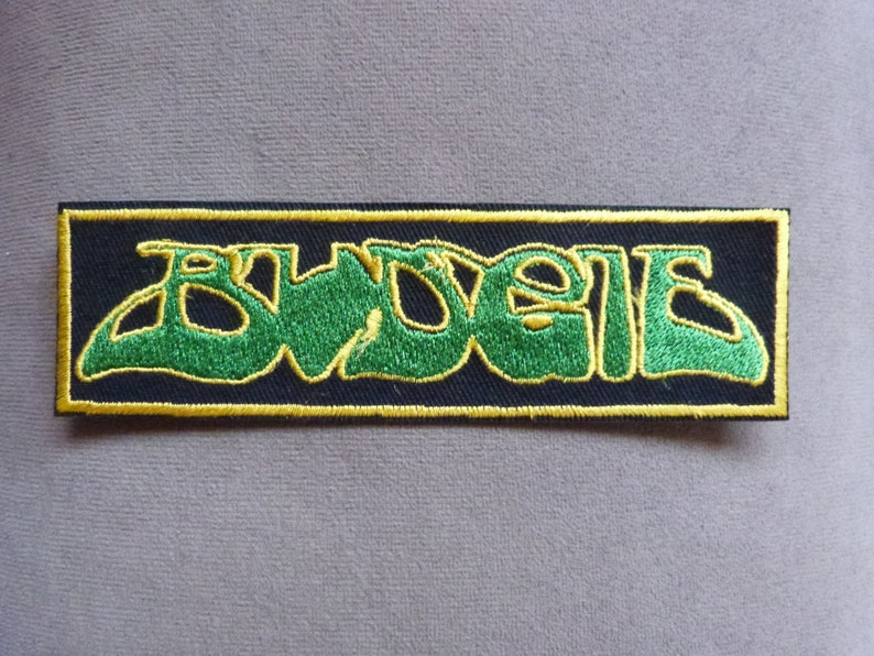 Budgie Band Logo embroidered iron on patch