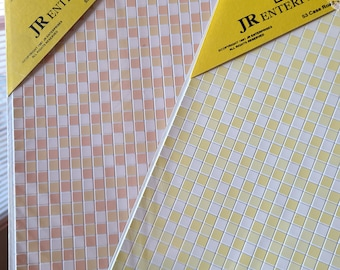 SHEET OF YELLOW  TILES DOLL HOUSE MINIATURE CARD STOCK