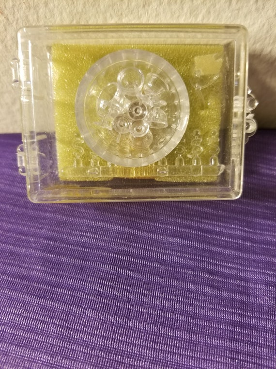 Kit NOS Chrysnbon Cake Plate /& 2 Candlesticks w// Candles CLEAR