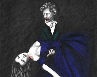 Giclée 'The Eternal Kiss' - Vampire Giclée Fine Art - By Layce.
