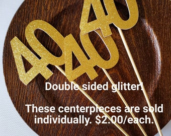 40th Birthday Centerpieces Party Centerpiece Sticks Gold Glitter Decorations
