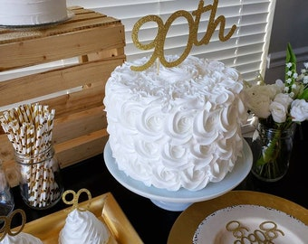 90th Birthday Cake Topper Decorations Party Ideas