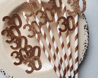 30th Birthday Decorations For Her Party Supplies Rose Gold