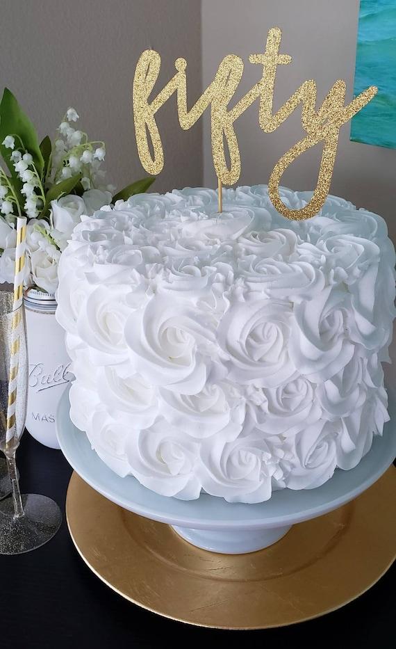 Awe Inspiring 50Th Birthday Cake Topper 50Th Birthday 50Th Birthday Etsy Personalised Birthday Cards Bromeletsinfo
