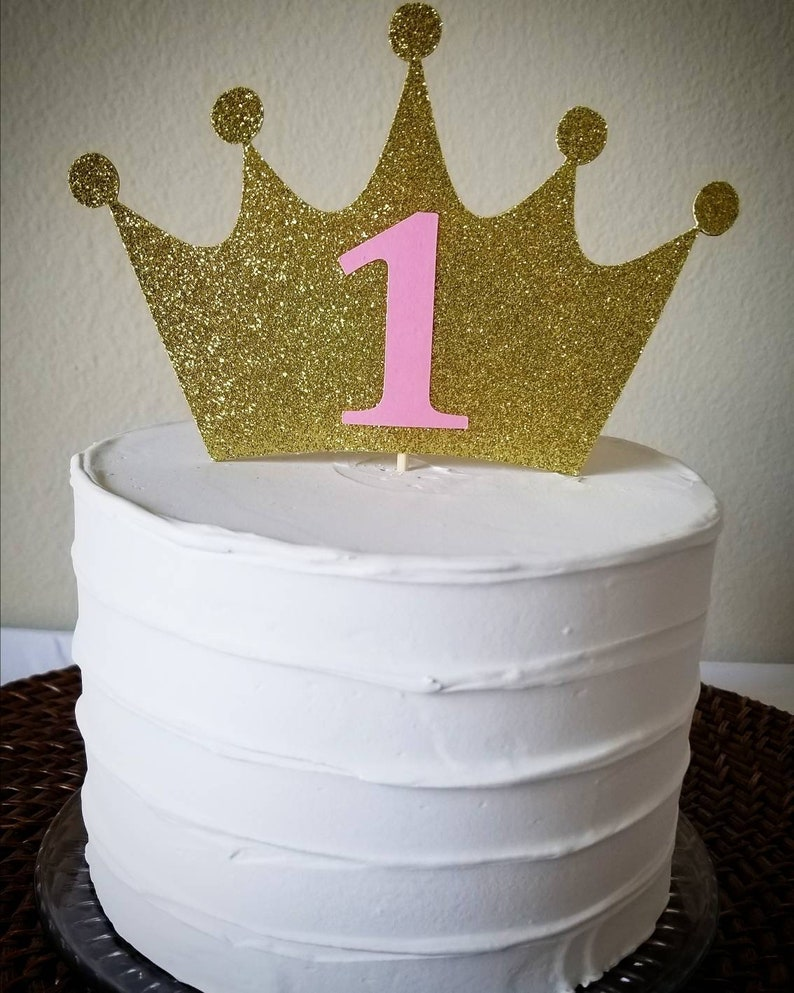 Pink And Gold First Birthday First Birthday Cake Topper Etsy