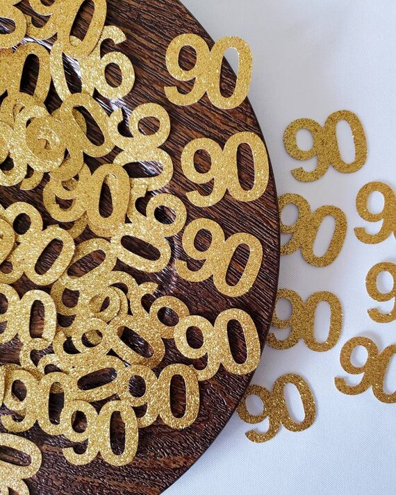 90th Birthday Confetti Party Decoration