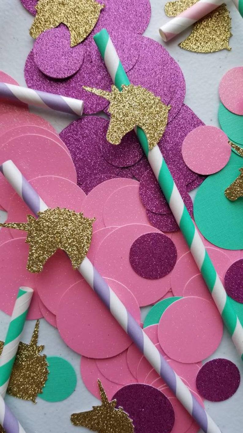 Unicorn Party Straws Birthday Decorations