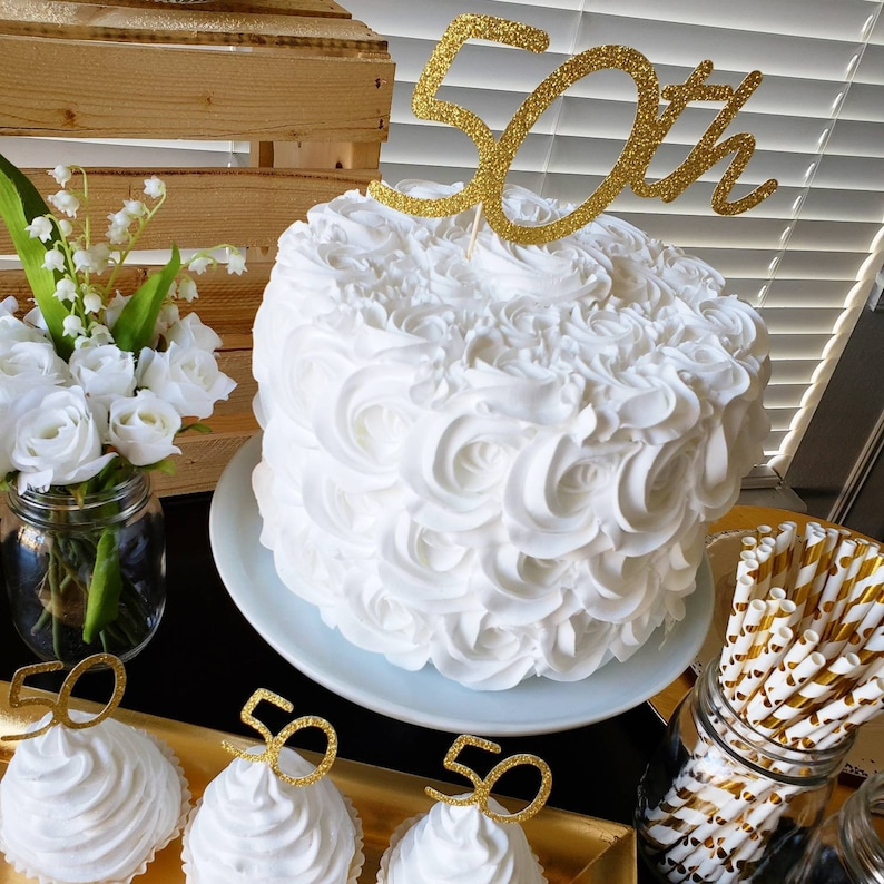 50th Birthday Cake Topper Decorations