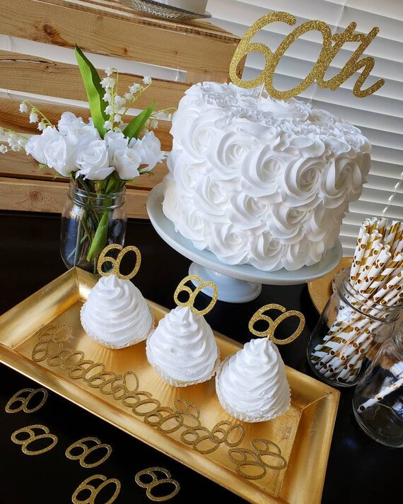 60th Birthday Cake Topper Decorations