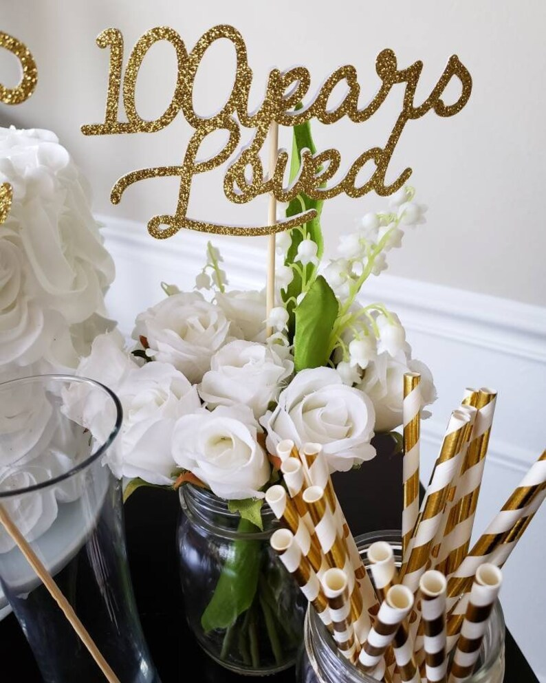 100th Birthday Decorations Centerpiece