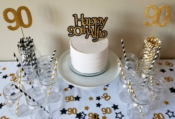 90th Birthday Cake Topper Decorations