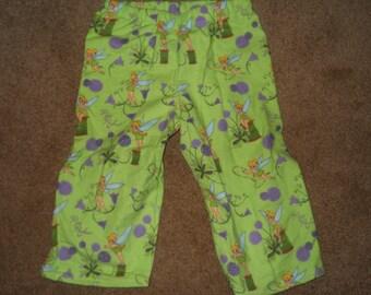Tinker Bell Mint Green Flannel PJ Pants Sz XS