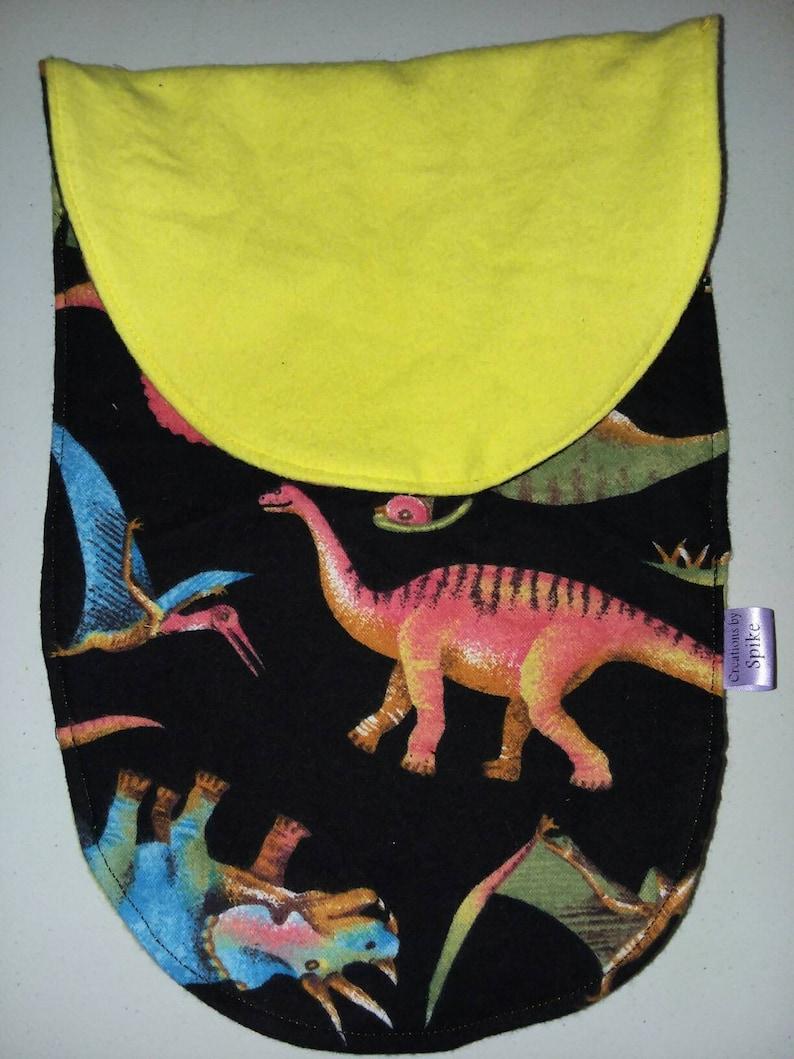 Dinosaurs Baby Flannel Burp Cloth