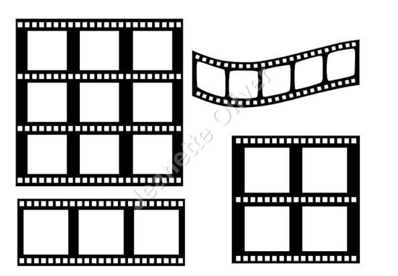 Assorted Film Strips with insert templates  SVG Digital Download
