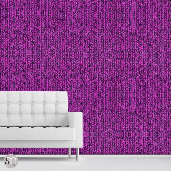 Hot Pink Sweater Self Adhesive Removable Wallpaper By Etsy