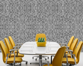GREY KNIT SWEATER - Self adhesive removable wallpaper by GraphicsMesh