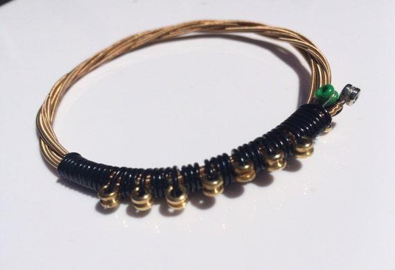 mayhem guitar string bracelet recycled jewelry punk rock etsy. Black Bedroom Furniture Sets. Home Design Ideas