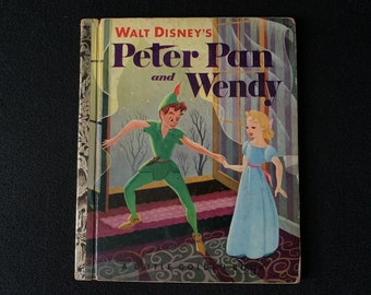 """Little Golden Book PETER PAN and WENDY 1952 """"A"""" Edition"""