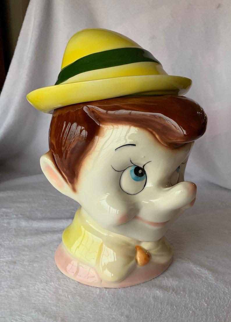 Disney Cookie Jar Etsy >> Pinocchio Cookie Jar