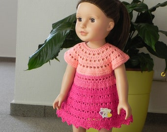 Crochet pattern for 18-inch doll dress Crochet doll clothing