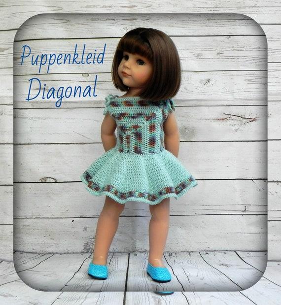 Anleitung Puppenkleid Häkelanleitung Kleid Puppenkleidung Fur Etsy