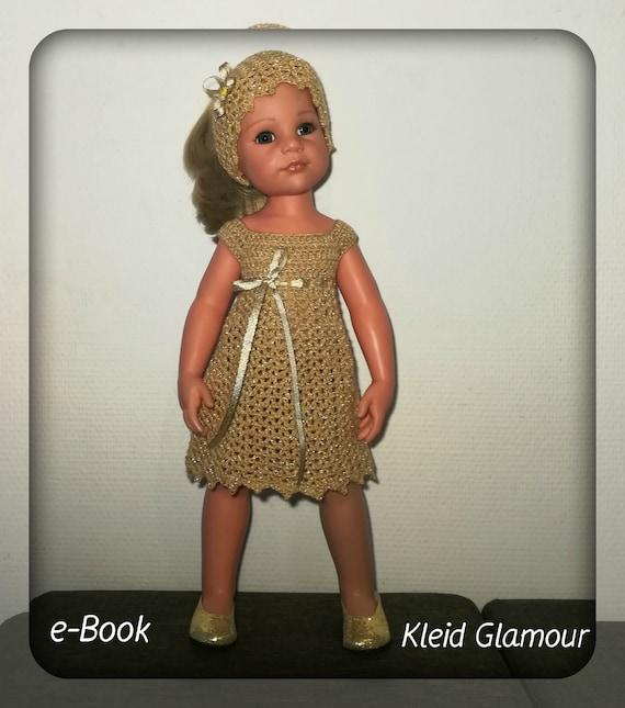 Häkelanleitung Puppenkleid Glamour Für Puppen 45 50 Cm