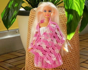 Crochet Pattern for 12-inch doll clothes crochet doll cloting