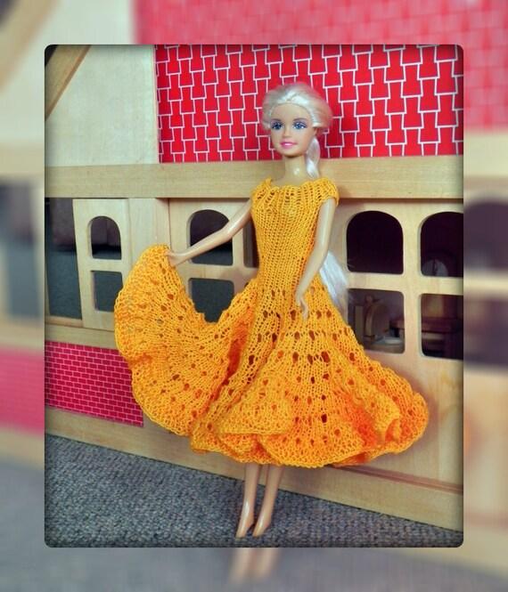 Ebook Strickanleitung Barbie Kleid Stricken Puppenkleid Kleid Für