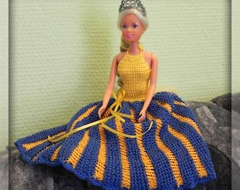 Strick-/Häkelanleitung Puppenkleid Neckholder Kleid stricken Puppenkleidung häkeln