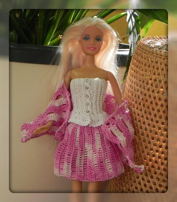 Häkelanleitung Top-Rock-Schal-Set für Barbie Barbiekleidung | Etsy