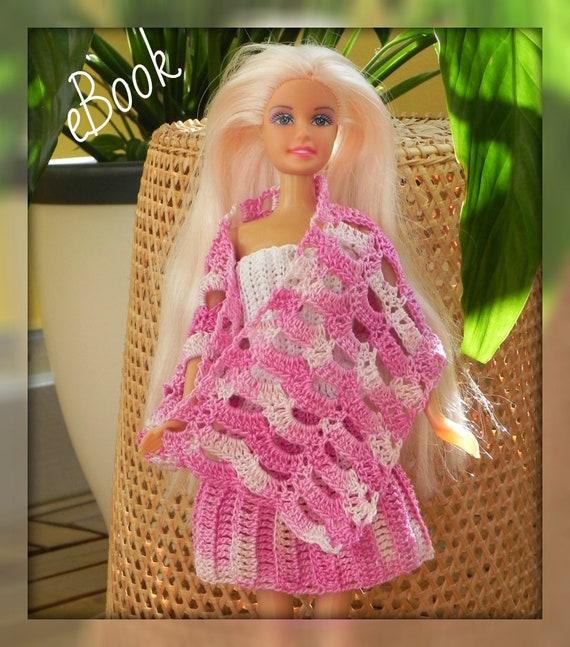 Häkelanleitung Top Rock Schal Set Für Barbie Barbiekleidung Etsy