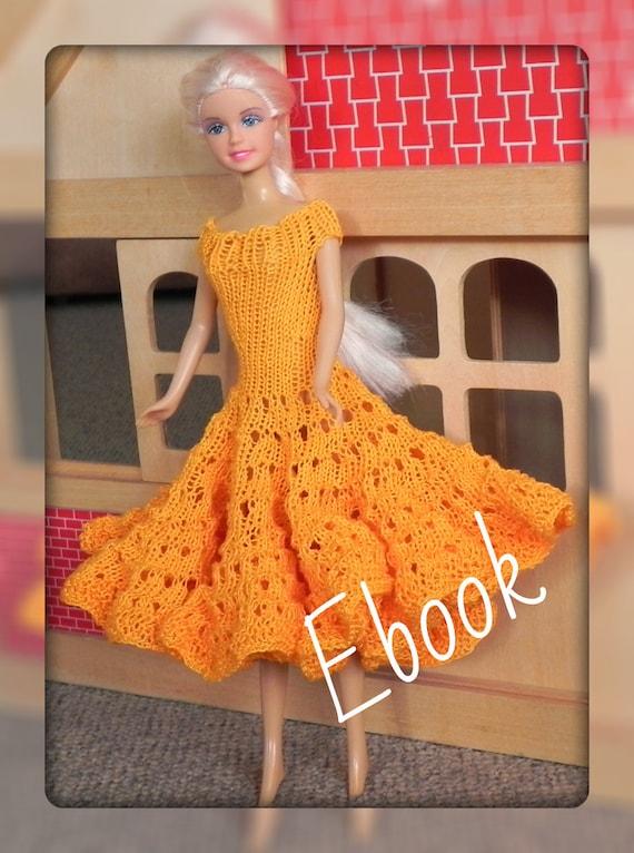 eBook Strickanleitung Barbie Kleid stricken Puppenkleid Kleid | Etsy