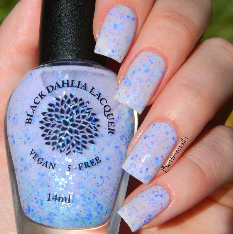Light Purple Crelly Nail Polish with Matte & Metallic Glitter | Etsy