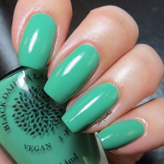 Kelly Green Creme Vegan Nail Polish by Black Dahlia Lacquer