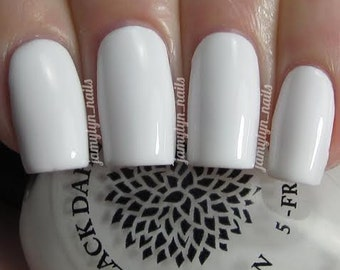 Plain White Nail Polish by Black Dahlia Lacquer | Oriental Lilies | Stamping & Nail Art | Vegan and Cruelty Free