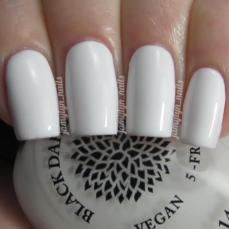 Blanc Creme vernis à ongles de Dahlia Noir laque Lys   Etsy
