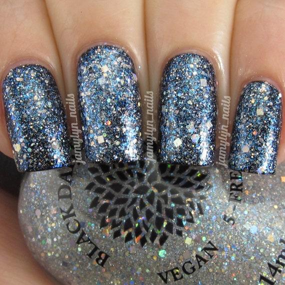 Silver Holo Glitter Top Coat Nail Polish By Black Dahlia