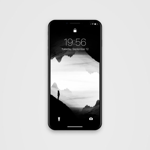 Phone Wallpaper Black And White Background Phone Screen Saver Black Wasteland Isolation