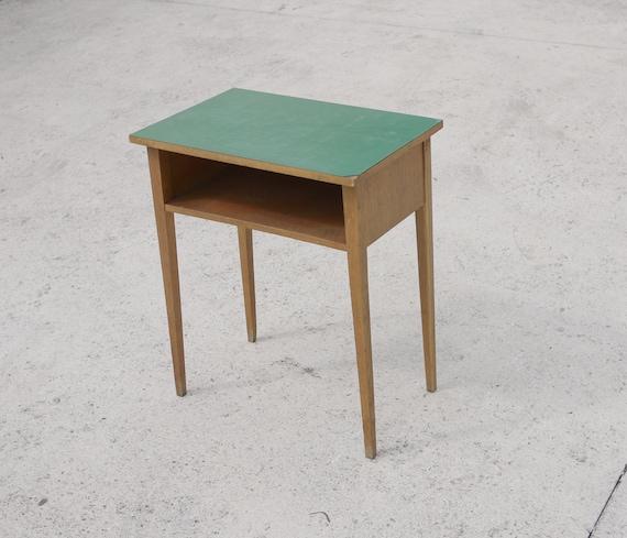 Brilliant Vintage Side Table Sea Green Laminate Top 1960 Oak Wood Contemporary Sofa Table Modern Living Evergreenethics Interior Chair Design Evergreenethicsorg