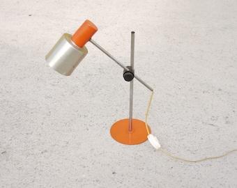 SWEDISH STYLE LAMP  Desk Lamp Orange Aluminum Retro Functionalist Vintage Adjustable Light Table Light